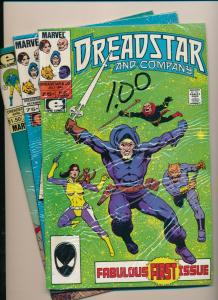 Marvel(Epic) LOT OF 3-DREADSTAR and COMPANY #1, 6, & 18 VF (PF818)
