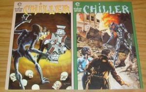 Chiller #1-2 VF/NM complete series JAMES HUDNALL john ridgway epic comics set