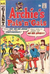 ARCHIES PALS & GALS (1952-    )41 VG Aug. 1967 COMICS BOOK