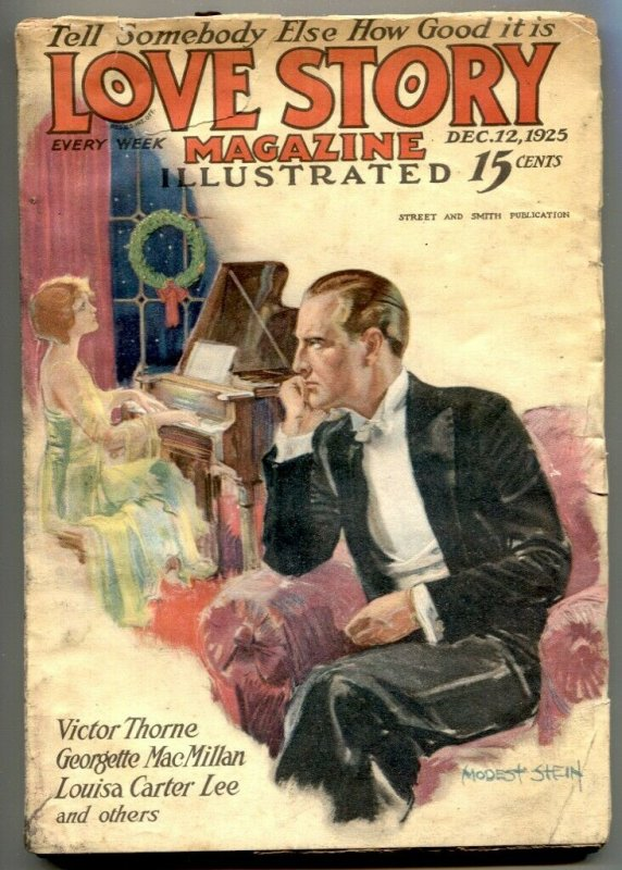 The Love Story Pulp December 12 1925- Victor Thorne VG