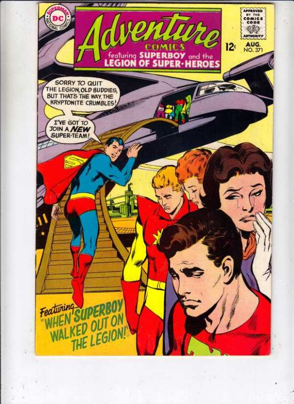 Adventure Comics #371 (Aug-68) VF+ High-Grade Legion of Super-Heroes, Superboy
