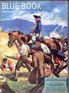 BLUE BOOK PULP-AUGUST 1947-VG/FN-STOOPS COVER-BEDFORD-JONES-BRANDON-PE VG/FN