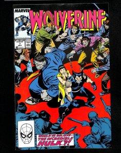 Wolverine (1988) #7 Incredible Hulk!