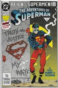 Adventures of Superman   vol. 1   #501 (reg.) VF (Reign of the Supermen)