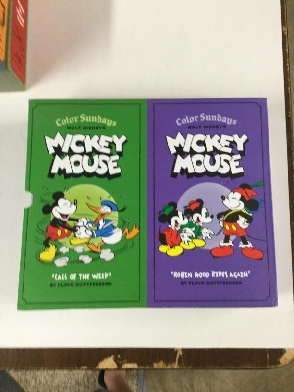 Mickey Mouse Call Of The Wild Robin Hood Rides Again Hardcover Color Sundays B17