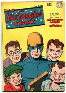 STAR SPANGLED COMICS #50 1945-NEWSBOY LEGION-GUARDIAN-ROBOTMAN- FINE MINUS FN-