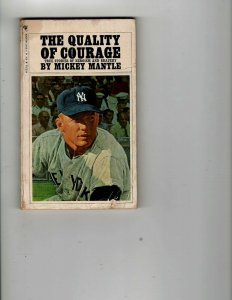 3 Books The Quality of Courage Mickey Mantle Indispensable Hank Aaron..714 JK27