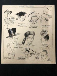 Bill O'Brien Original Sporting News Art- Harry Walker-St Louis Cardinals