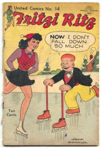 United #14 1951-United Features-Fritzi Ritz-Spicy Good Girl Art-Bushmiller