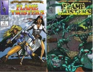 FLAME TWISTERS (1994 BROWN STUDY) 1-2  COMPLETE! COMICS BOOK