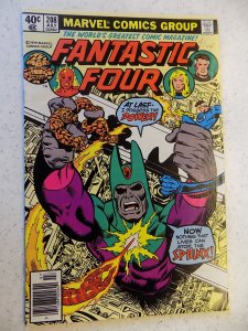 FANTASTIC FOUR # 208 MARVEL BRONZE ACTION THING TORCH FN+