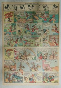 Mickey Mouse Sunday Page by Walt Disney from 3/18/1945 Tabloid Page Size