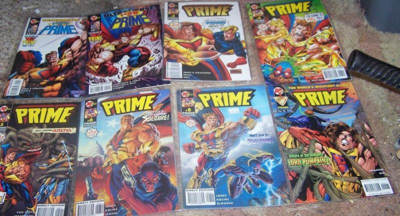 Power of Prime  LOT 8 issues  #1 2 3 4 5 6 8 15 Malibu  ultraverse