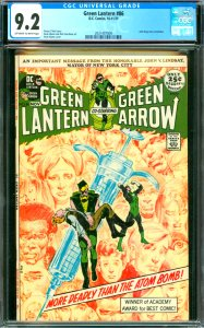 Green Lantern #86 CGC Graded 9.2 Anti-drug story concludes