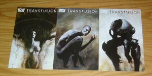 Transfusion #1-3 VF/NM complete series - vampires vs robots - steve niles menton