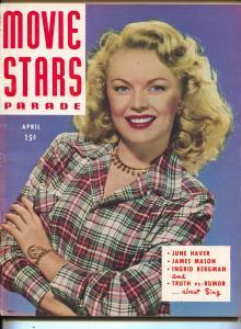Movie Stars Parade-June Haver-June Allyson-Rita Hayworth-April-1947