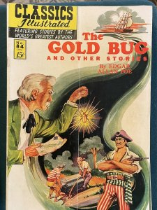 Classics Illustrated #84 The Gold Bug And Other Stories (1951 Gilberton)