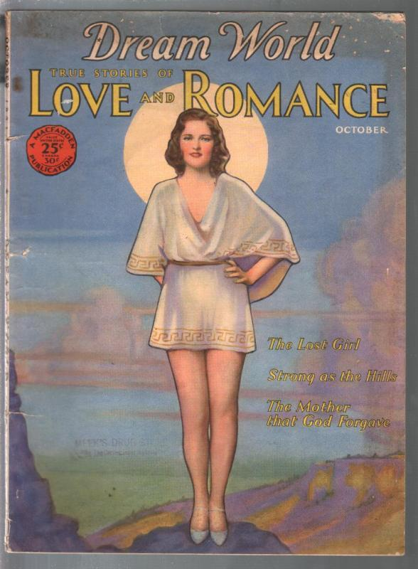 Dream World Love and Romance 10/1931-Dorothy Fllod Ziegfeld Follies girl cover-G