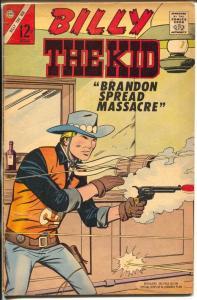 Billy The Kid #62 1967-Charlton-bar room gunfight cover-violence-crime-FN