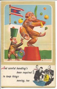 Lawson Wood-Monkeys-Salesman Sample Calendar Art 1945-folds out-FN