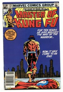 Master of Kung Fu #125 1983 comic book LAST ISSUE