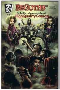 BEGOTHS #2, NM, Femmes, Gothic, Ophelia, Musicians, 2007, more indies in store