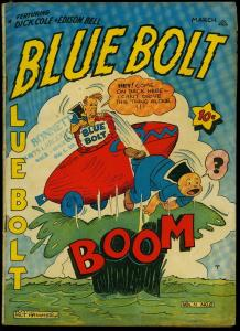 BLUE BOLT V.4#8 1944-SUB ZERO-SGT SPOOK-HITLER-HIROHITO FN-