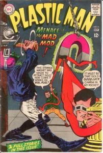 PLASTIC MAN 6 VG-F Oct. 1967 COMICS BOOK