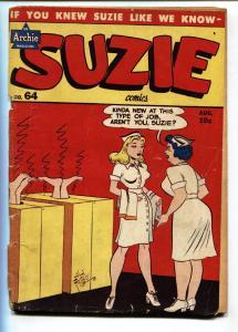 Suzie #64 1948-Archie-Katy Keene-steam bath-spicy poses-swimsuits G