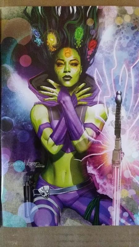 GUARDIANS OF THE GALAXY 1 2019 GREG HORN COVER  VIRGIN VARIANT