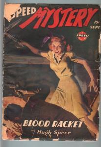 SPEED MYSTERY 1944/9-HUGH SPEER-SPICY PULP-WEIRD MENACE G