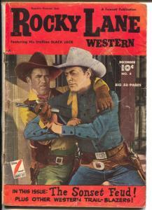 Rocky Lane Western #8 1949-Fawcett-The Wild Frontier-Black Jack-G/VG