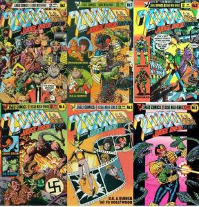 2000 AD MONTHLY (1985 EAGLE)1-6  Judge Dredd,DR&QUINCH