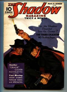 SHADOW 1935 Mar 15-Great cover - STREET AND SMITH-RARE PULP fn-