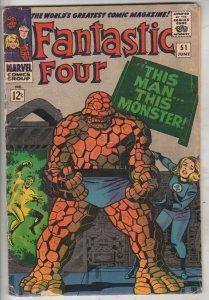 Fantastic Four #51 (Jun-66) VG+ Affordable-Grade Fantastic Four, Mr. Fantasti...