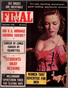 Final #1  9/1950-Lola Allbright-Ernestine Mercer-1st issue-Nazi Goering-VG