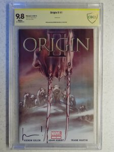 ORIGIN II # 1 ACETATE COVER ADAM KUBERT CVR CBCS 9.8. SIGNED GILLEN