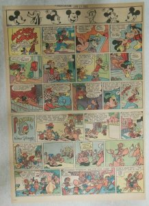 Mickey Mouse Sunday Page by Walt Disney from 1/21/1945 Tabloid Page Size