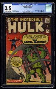 Incredible Hulk #6 CGC VG- 3.5 Off White to White
