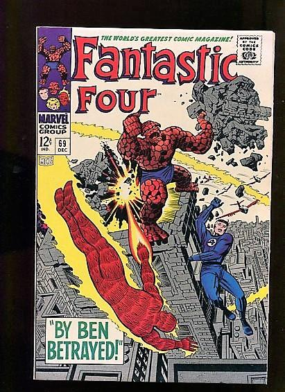 FANTASTIC FOUR  #69  (1967)  9.6 (NM+)   WHITE PGS  BEAUTIFUL SUPER HIGH GRADE