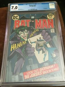BATMAN #251 - CGC 7.0 FN/VF -CLASSIC NEAL ADAMS-JOKER-BRONZE AGE BLUE CHIP KEY