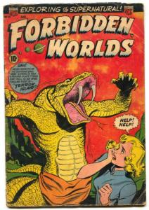 Forbidden Worlds #20 1953- GGA cover- Horror comic G