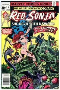 RED SONJA #4, VF/NM, Robert E Howard, She-Devil Sword, Frank Thorne,1977, Marvel