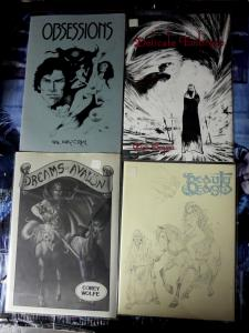 Schanes & Schanes Lot of 4 11 x 14 Art Portolios beautiful B&W comic art print