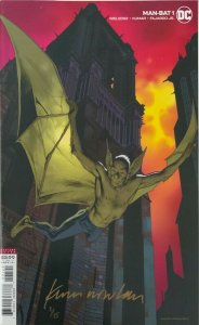MAN-BAT #1  KEVIN NOWLAN VARIANT SIGNED WITH COA DC NM.