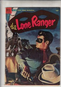 Lone Ranger 71 strict FN/VF Painted front cover and a cool ad on the back cover.