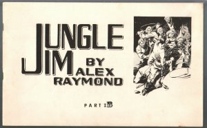 Jungle Jim Part 1B 1972-Alex Raymond comic strip reprints-FN