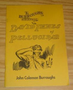 Burroughs Bibliophile #1 VF/NM david innes of pellucidar 1968 silver age