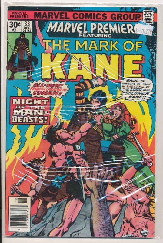 Marvel Premiere #33 The Mark of KANE  (HX72) VF
