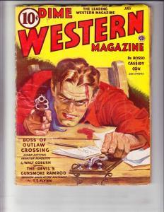 Dime Western Magazine vol. 36 #3 VG july 1943 - pulp mag - walt coburn - flynn